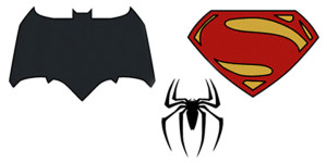Эволюция символов Бэтмена, Человека-Паука и Супермена